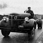 0 omslag provkörning av lastbilschassie 1950-talet Värmland